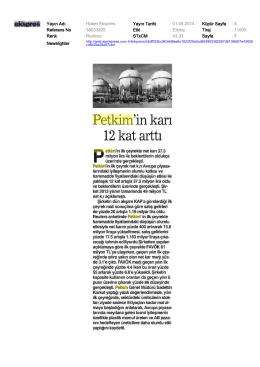 Yayın Adı : Haber Ekspres Yayın Tarihi : 01.05.2014 Küpür Sayfa : 5