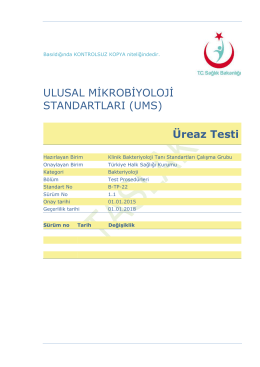 Üreaz Testi - Türkiye Halk Sağlığı Kurumu