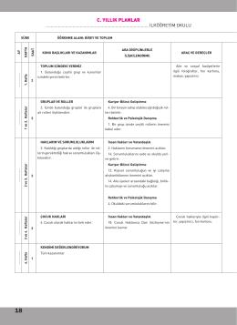 c. yıllık planlar - Harf Eğitim Yayınları