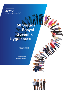 50 Soruda Sosyal Güvenlik Uygulaması
