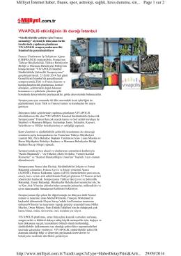 Page 1 sur 2 Milliyet İnternet haber, finans, spor, astroloji, sağlık