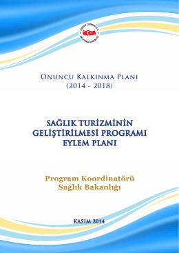 Sağlık Turizminin Geliştirilmesi Programı Eylem Planı