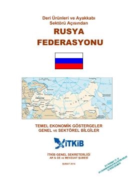 rusya federasyonu - İstanbul Tekstil ve Konfeksiyon İhracatçı Birlikleri