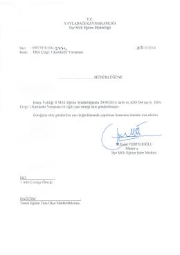 EBA Çizgi/ 1. Karikatür Yarışması - yayladağı ilçe millî eğitim