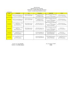 Optisyenlik Programı I. Sınıf İkinci Öğretim Haftalık Ders Programı
