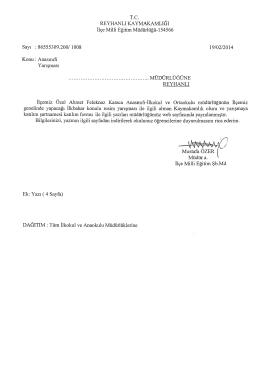 Anasınıfı Yarışması - reyhanlı ilçe millî eğitim müdürlüğü