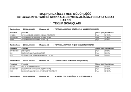 03 Haziran 2014 TARİHLİ KIRIKKALE-SEYMEN-ALİAĞA
