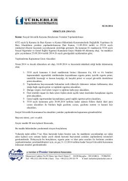 02.10.2014 Sosyal Güvenlik Kurumu Borçlarının