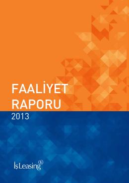 31.12.2013 Faaliyet Raporu