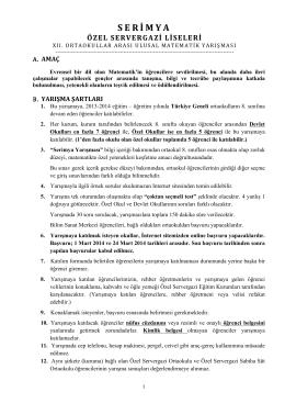Şartnameyi tüm detayları ile PDF formatında