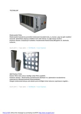 fılıtreler - Kardema Mekanik Havalandırma