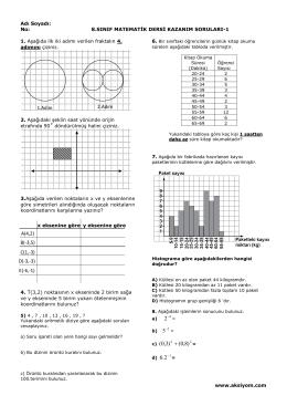 8.Sınıf Matematik Dersi Kazanım Soruları-1b