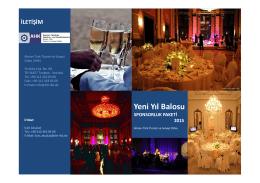 Yeni Yıl Balosu Sponsorluk Paketi 2015