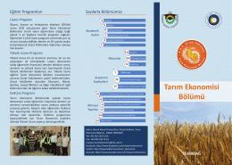 Tarım Ekonomisi Bölümü - E-Universite