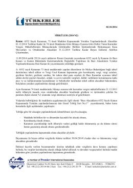 02.10.2014 6552 Sayılı Kanunun