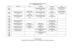 Mekatronik Mühendisliği Ders Programı