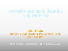 PROF.DR.UĞUR ERSOY