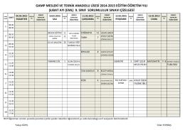 gamp mesleki ve teknik anadolu lisesi 2014
