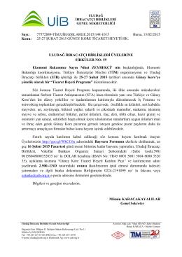 sirküler 59 güney kore ticaret heyeti 25-27 şubat 2015