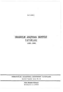 026 - Doğu Karadeniz Ormancılık Araştırma Enstitüsü Müdürlüğü