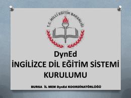 Dyned Kurulum Sunu - Bursa İl Milli Eğitim Müdürlüğü