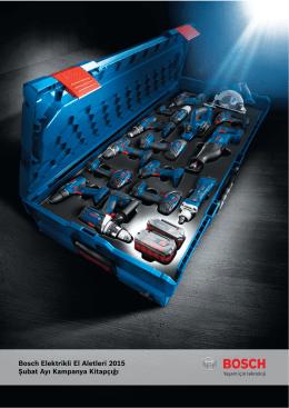 Bosch Elektrikli El Aletleri 2015 Şubat Ayı Kampanya Kitapçığı