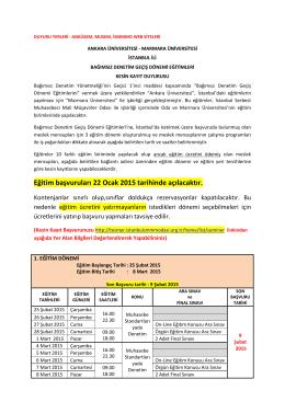 Ankara Üniversitesi - İstanbul Serbest Muhasebeci Mali Müşavirler