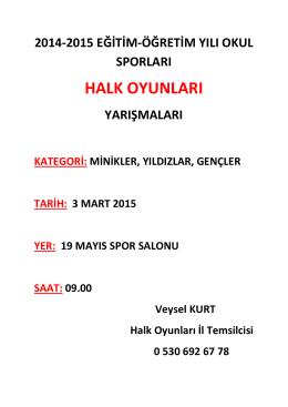 HALK OYUNLARI - Trabzon Gençlik ve Spor İl Müdürlüğü
