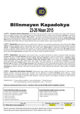 Kapadokya Gezisi - İtalyan Liseliler Derneği