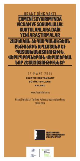 14 MART 2015 - Hrant Dink Vakfı