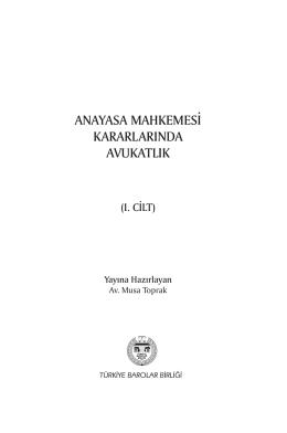anayasa mahkemesi kararlarında avukatlık