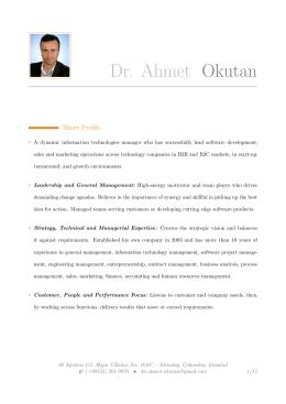 Dr. Ahmet Okutan –