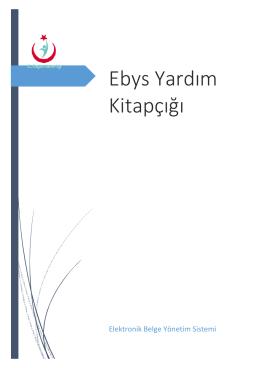 EBYS Kullanıcı Klavuzu