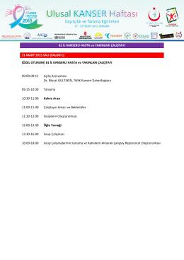 Kanser2015 Program-2 - Türkiye Halk Sağlığı Kurumu