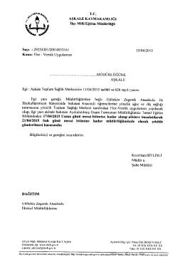 Flor - Vernik Uygulaması - aşkale ilçe millî eğitim müdürlüğü