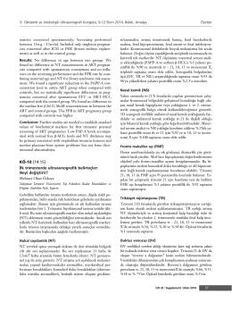 KÖ-10 [14:15] ‹lk trimesterde ultrasonografik
