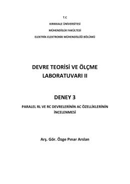 deney-3 - Kırıkkale Üniversitesi - Elektrik Elektronik Mühendisliği