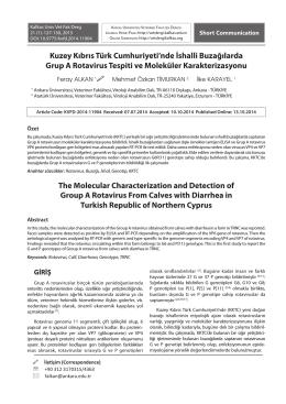 Full Text PDF - Kafkas Üniv Vet Fak Derg