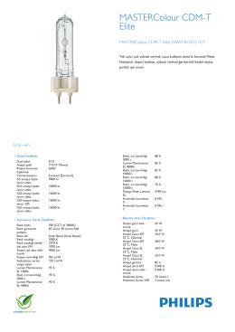 Product Leaflet: CDM-T Elite 35W /842, /930, /930 G12