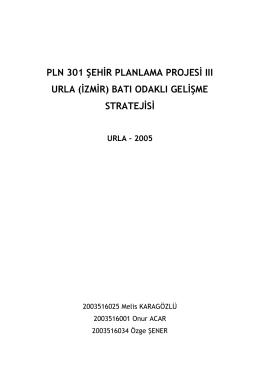 pln 301 şehir planlama projesi ııı urla