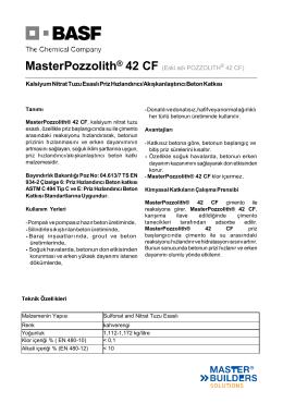 MasterPozzolith® 42 CF (Eski adı POZZOLITH® 42 CF