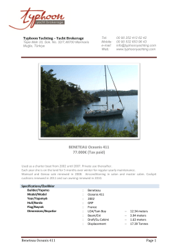 BENETEAU Oceanis 411 77.000€ (Tax paid)