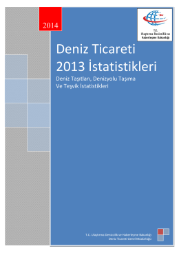 Deniz Ticareti 2013 İstatistikleri