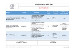 2014 iş planı - Kütahya Ticaret ve Sanayi Odası