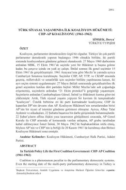 chp-ap koalisyonu (1961-1962)