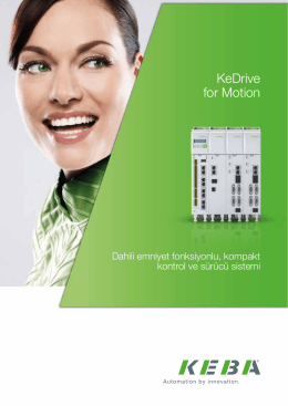KeDrive for Motion broşürü