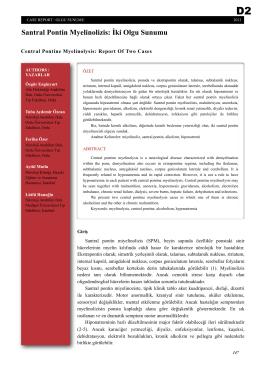 Santral Pontin Myelinolizis: İki Olgu Sunumu