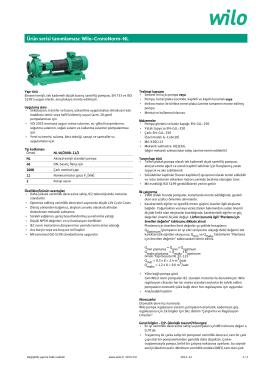 Ürün serisi tanımlaması: Wilo-CronoNorm-NL