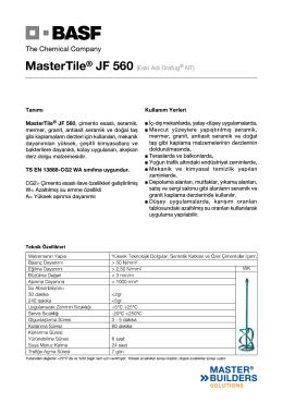 MasterTile® JF 560 (Eski Adı Drafug® NT)
