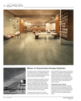Mimar ve Tasarımcılara Sıradışı Çözümler
